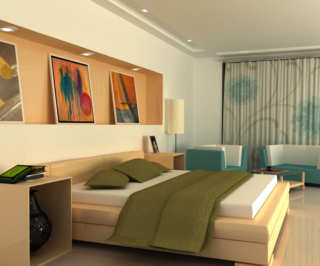 Interior exterior plan try to design your 3d bedroom online for 3 room design ideas