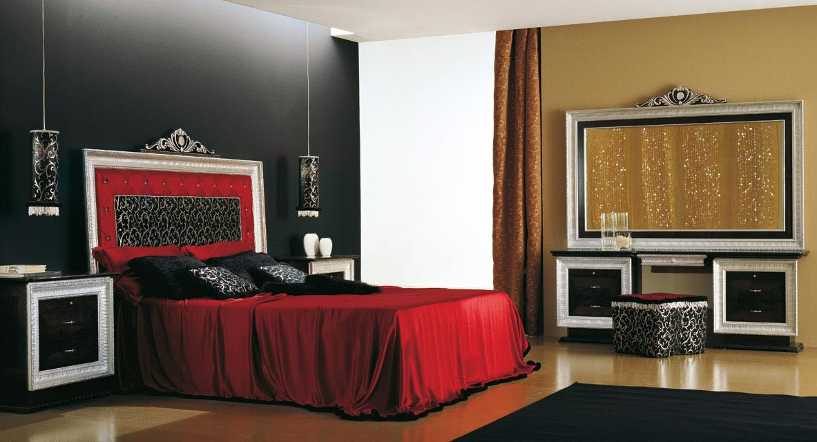 Interior exterior plan use bold red color with for Bedroom designs 2010