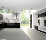 Give your kitchen a black and white theme