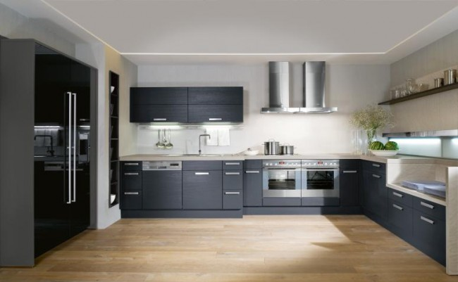 Make your kitchen versatile with black and white combination