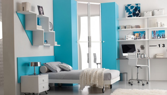 Stylish and spacious teen bedroom