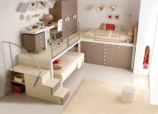 Cute bedroom with a bunk bed