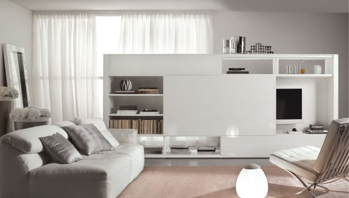 White and small living area