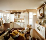 Vanilla and caramel colored kitchen