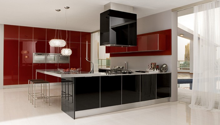 Black and Maroon Mica to Have a Sensational Kitchen