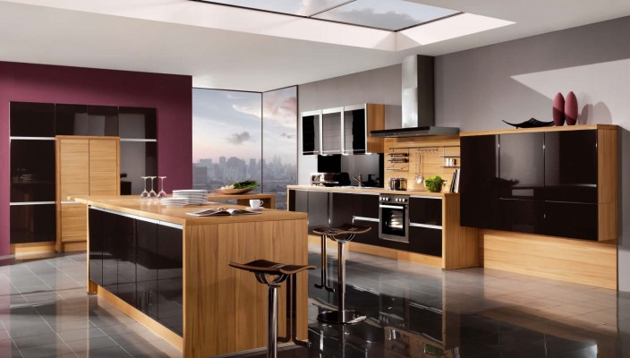Galaxy Midnight High Gloss Kitchen Design