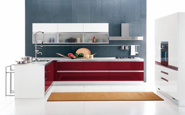 Make your kitchen elegant and opulent with burgundy