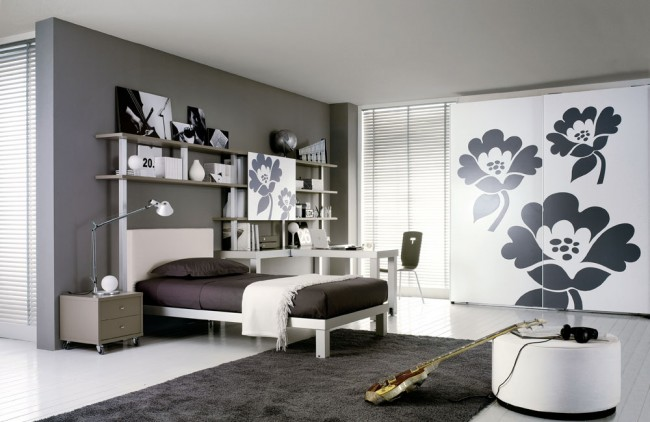 Grey Teen Bedroom Design