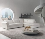 A living room with two focal points