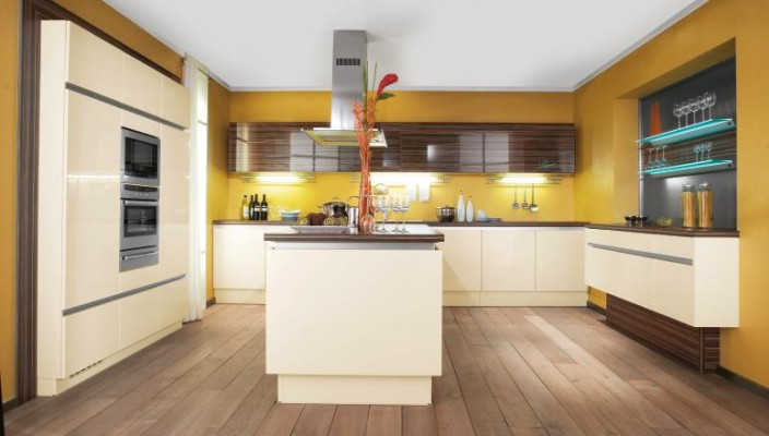 Beautiful yellow kitchen