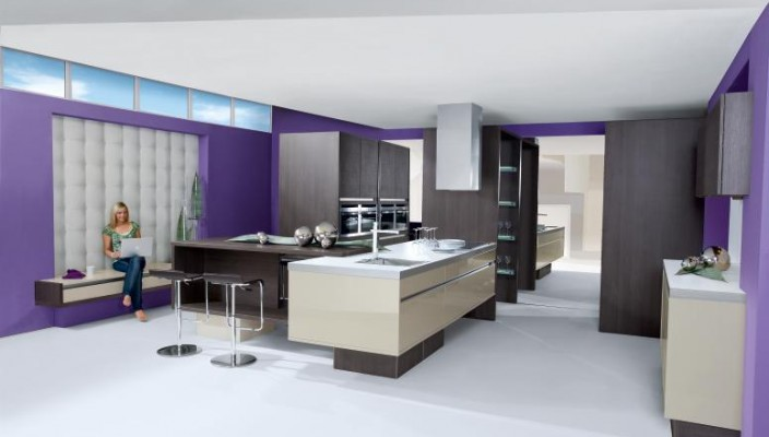 Purple and luxurious kitchen