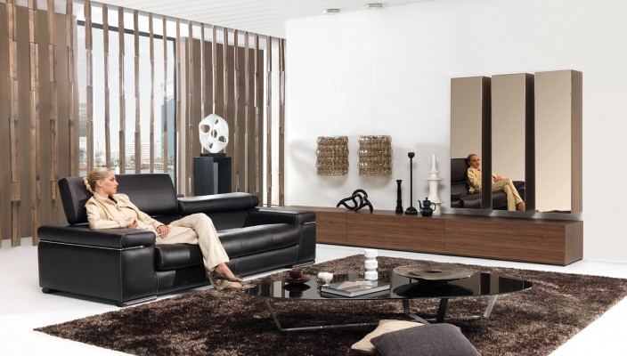 Use dark shades of brown to decorate your living room