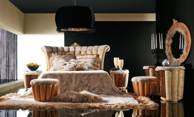 Black and bold bedroom