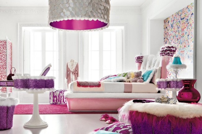 Teens want glamour and luxury in their bedroom