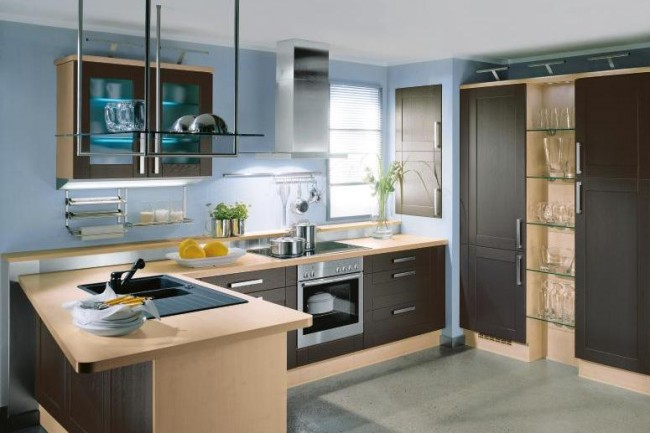 Decorate your modern kitchen with extremely popular color palette
