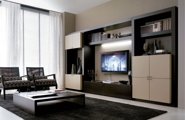 Use modern style of furniture to decorate your living room