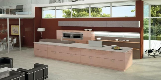 Brown Open Kitchen