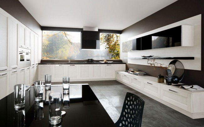 Make your black-and-white kitchen a versatile one