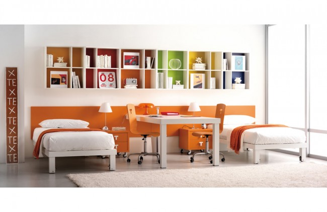 Orange Teen Bedroom Design