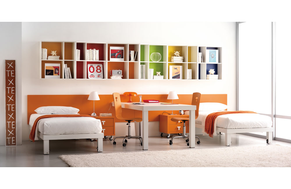Interior exterior plan paint your teen bedroom in orange based on their taste and personality - Painting interior and exterior plan ...