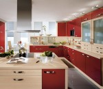 Pia Burgundy Kitchen Design