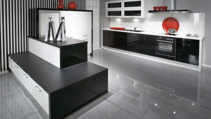 Primo Black High Gloss Kitchen Design