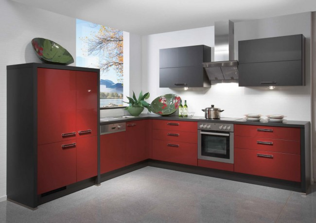 Primo Bordeaux High Gloss Kitchen Design