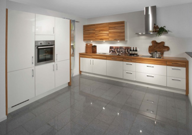 Reinvigorate your kitchen with white high-gloss paint