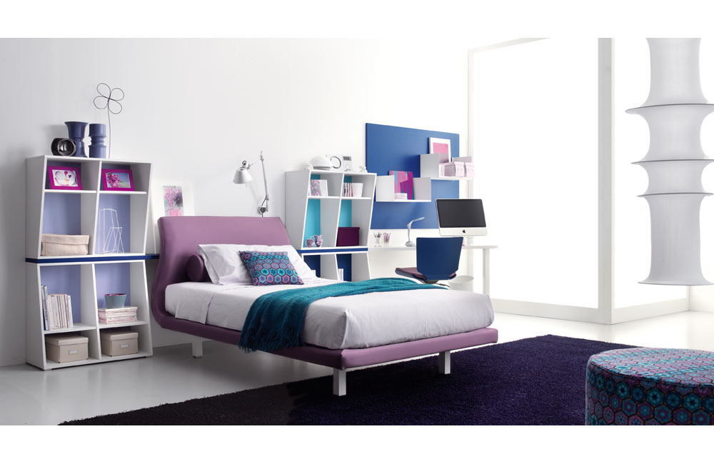 Interior exterior plan decorate your teen 39 s bedroom in for Blue purple bedroom ideas