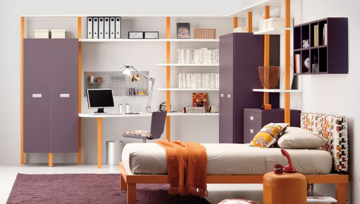 Purple Teen Bedroom Design