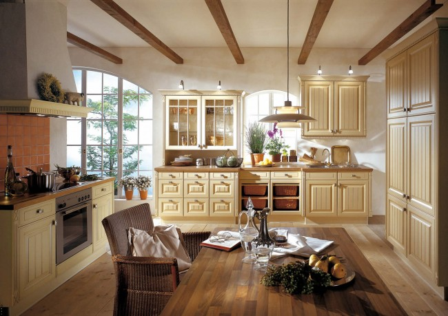 Adding cream color to kitchen will raise its looks