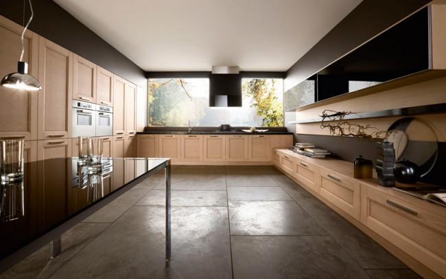 Design your kitchen with natural ash color
