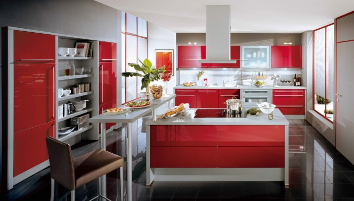 Red Colored Kitchen Attachments