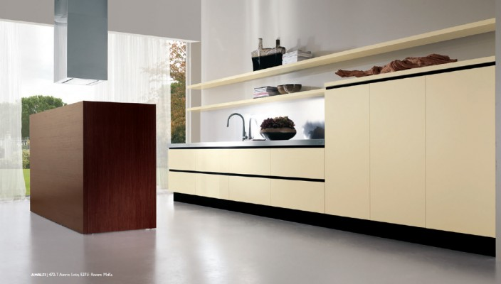 Dual Wood Based Theme for Kitchen Interiors