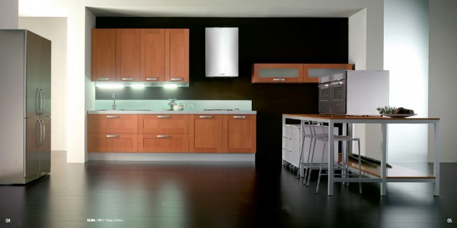 Cherry Finish for Modern Kitchen Interiors