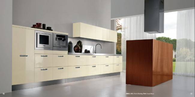 Varied Materials Used In Kitchen Interiors