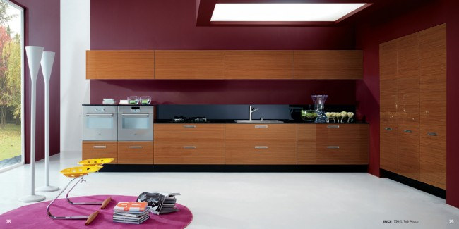 Get the Teak Finish in the Modern Kitchen