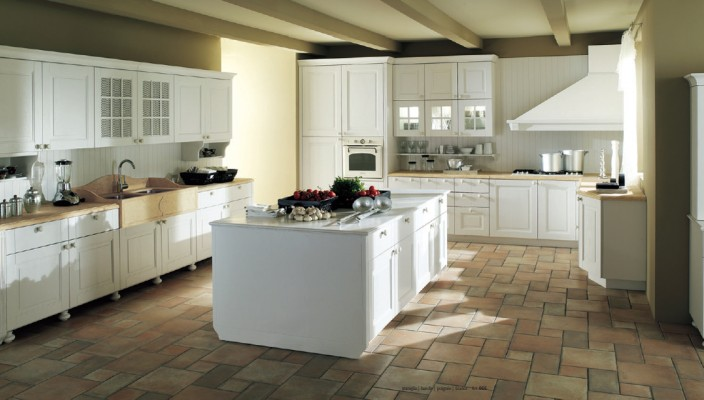 Wooden Effect Kitchen Setting