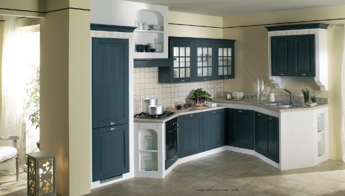 Pics for dark blue kitchen walls for Dark blue kitchen cabinets