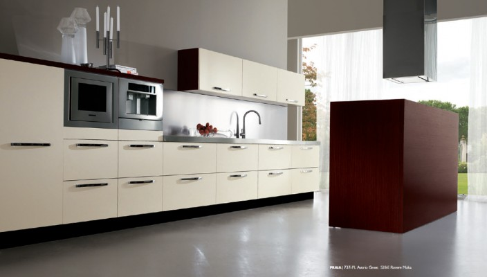 Kitchen Concept for Elongated Spaces in Style