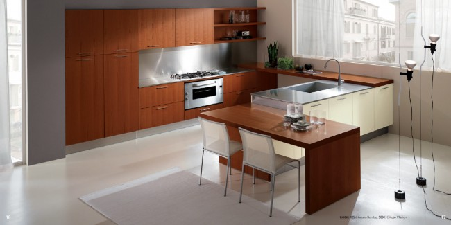 Natural Wood Based Kitchen Concept with a Difference