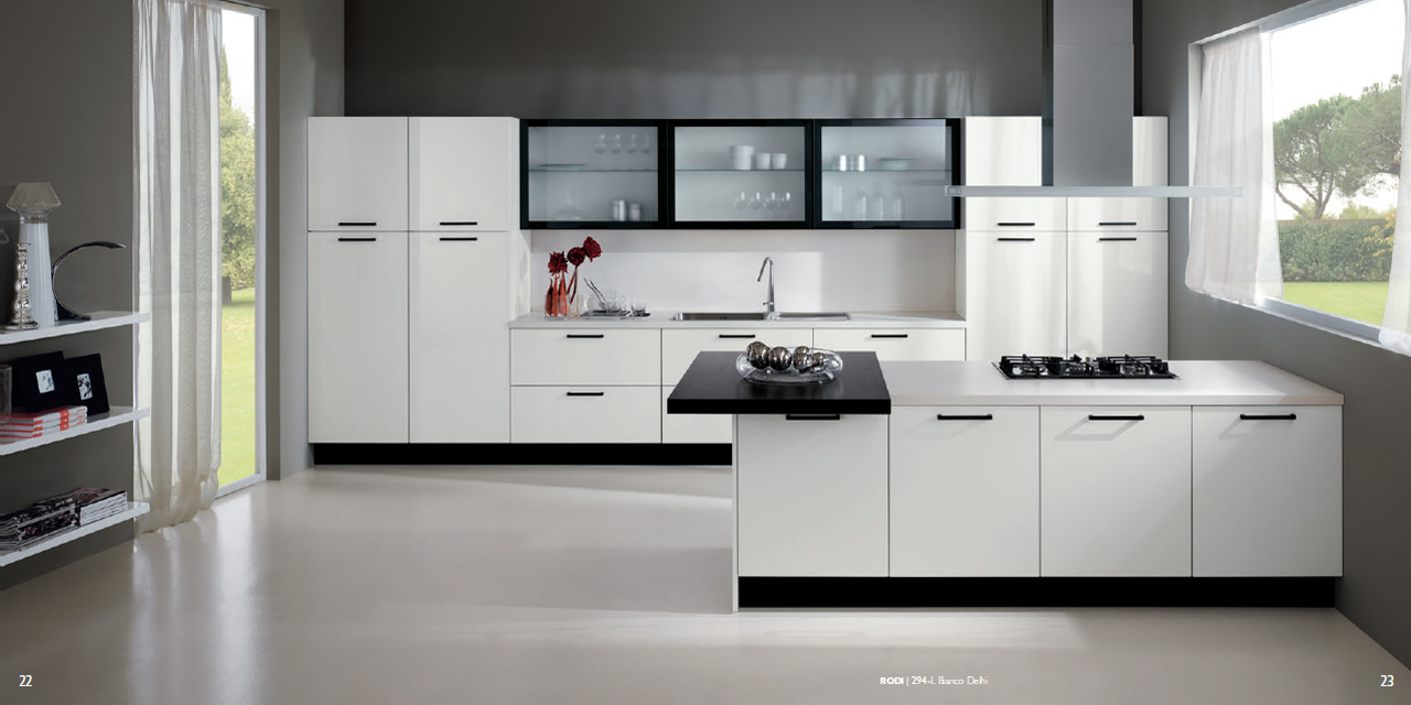 Interior Exterior Plan | White Based Kitchen Concept with Smooth Finish