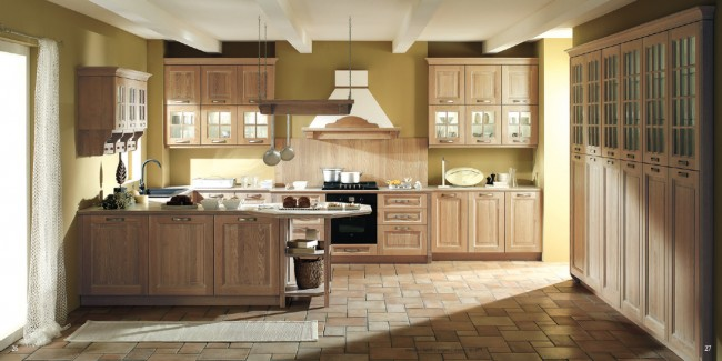Choose different shades of a color for different kind of kitchen walls