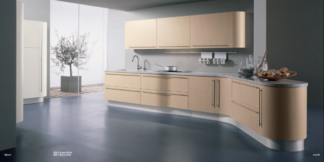 Decorate your kitchen with slate grey flooring