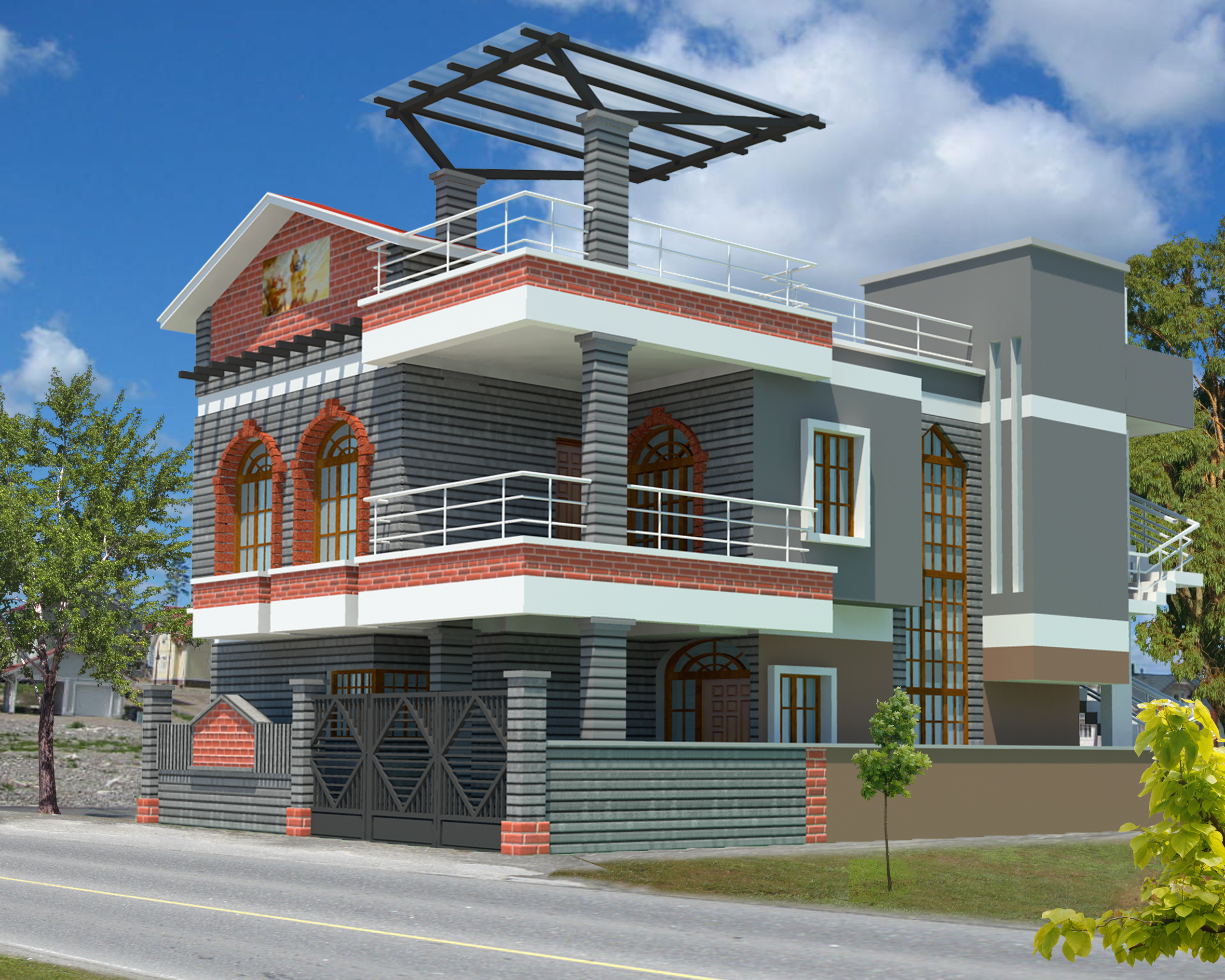Interior exterior plan make use of websites to build a House 3d model