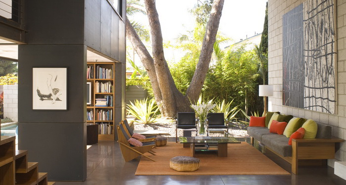 Interior exterior plan 700 palms residence interior in - Limposante residence contemporaine de ehrlich architects ...