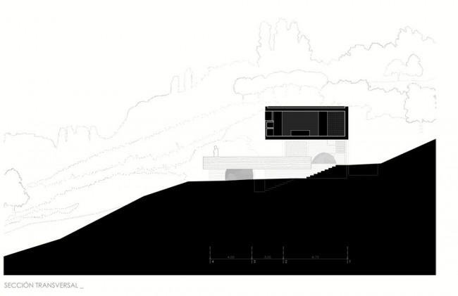 Pitch's House by Inaqui Carnicero - Section View 01