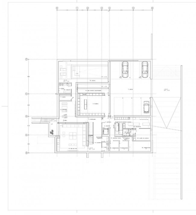 House Plan by A-cero Architects - 01