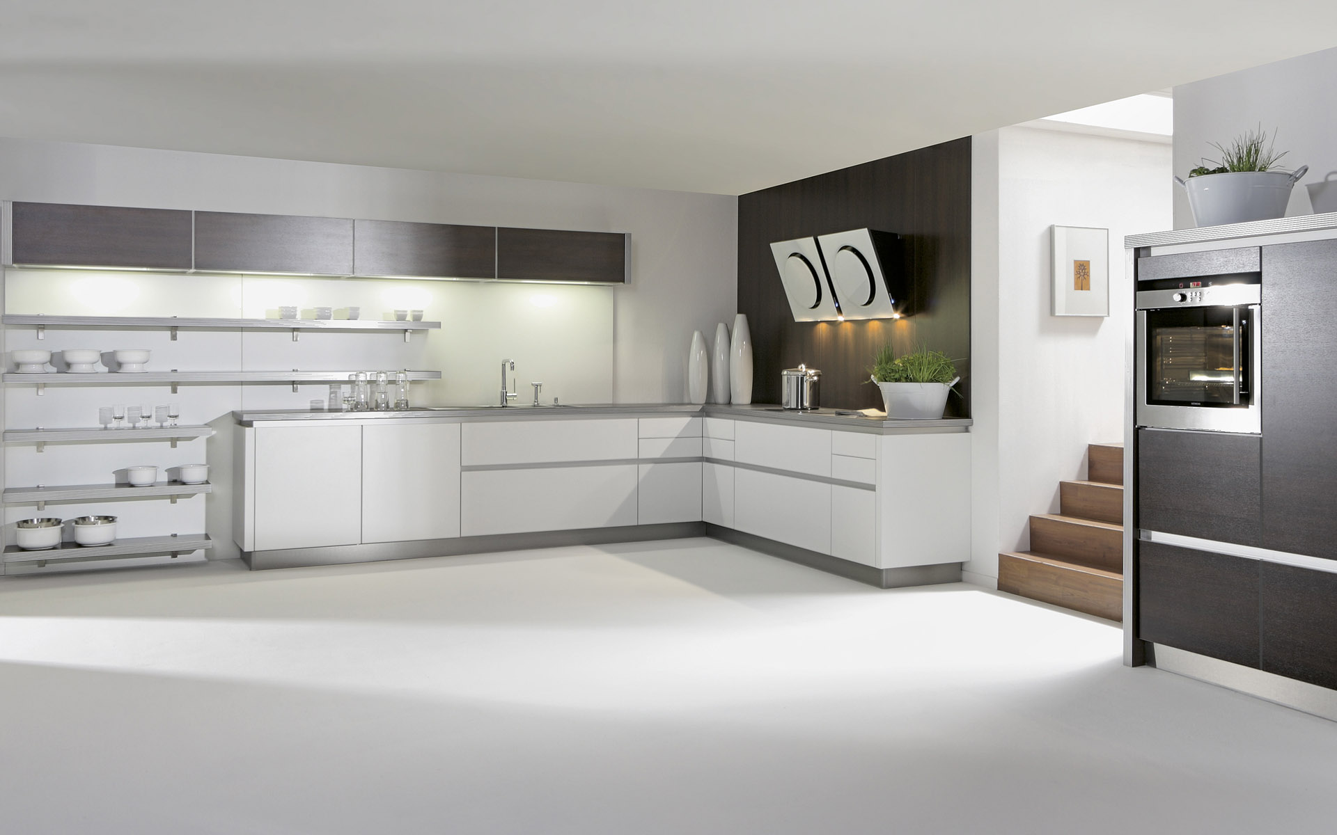 Kitchen Interior Design: Ideal White Interior Themed