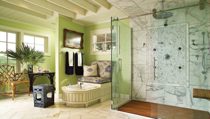 Classy interior concept for modern bathroom